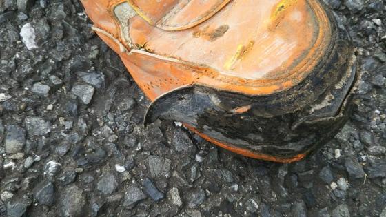 安全靴使用後